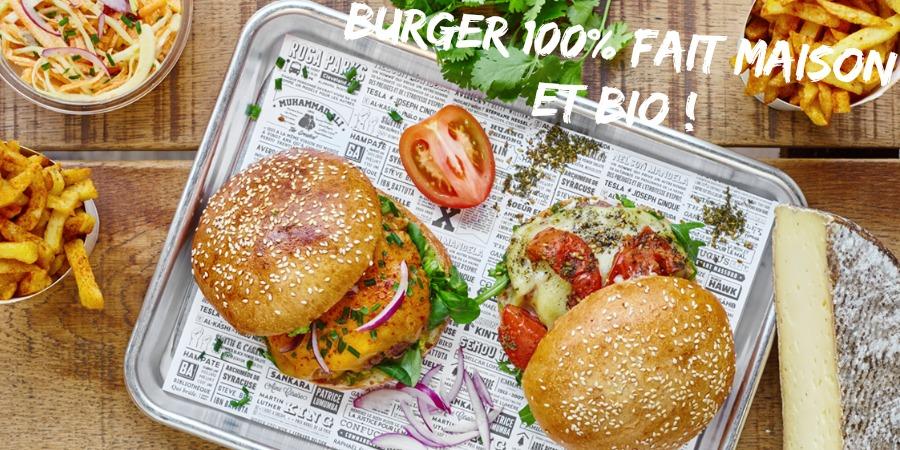 Rosaparks, un burger halal, bio et fait maison